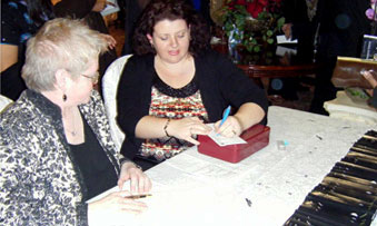 Information facilitators, Ingrid McKay and Cathy Mwanza