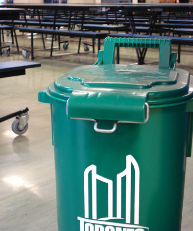 Green bins have already been implemented in Mowat's cafeteria.