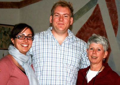 Claudia Morano (left), Ryan Fleming (centre) and Mary Lou Halferty were three of the five Pope John Paul II secondary school teachers that helped get students out of a fire.