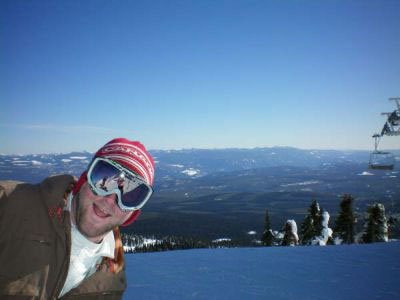 Wes Dillon loves spending time out west on the slopes skiing.