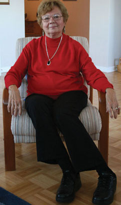 Olga Cosburn, a founding member of the Scarborough Breast Cancer Support group, is one of the many women who helps others in the battle against cancer.
