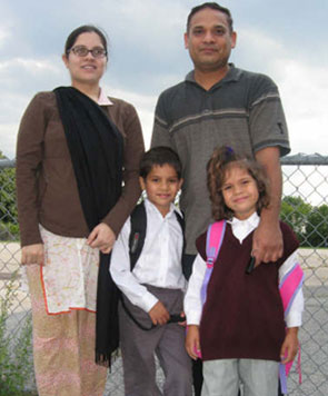 The Ghani family are tired of conflicting reports from the media of a possible elementary school strike.