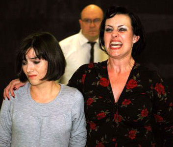 Louise played by Natasha Negovanlis and Mama Rose played by Heidi Michelle Thomas rehearse for Gypsy, a musical based on the life of Gypsy Rose Lee (Photo courtesy of smtgypsy.com)
