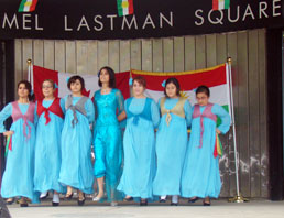 Young Kurdish women performing a dance for the audience that attended the second annual Kurdish Heritage Festival, which was hosted by the Greater Toronto Kurdish House.