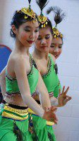 Dance group performs traditional dance at the Chinese Cultural Centre of Greater Toronto.