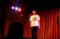 Brian Millado performs at the Toronto Poetry Slam at the Drake Hotel in Toronto on January 26 2013.
